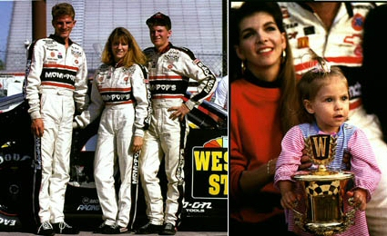 Dale Earnhardt - Family - Kerry, Kelley, Dale Jr, Taylor Nicole and Theresa